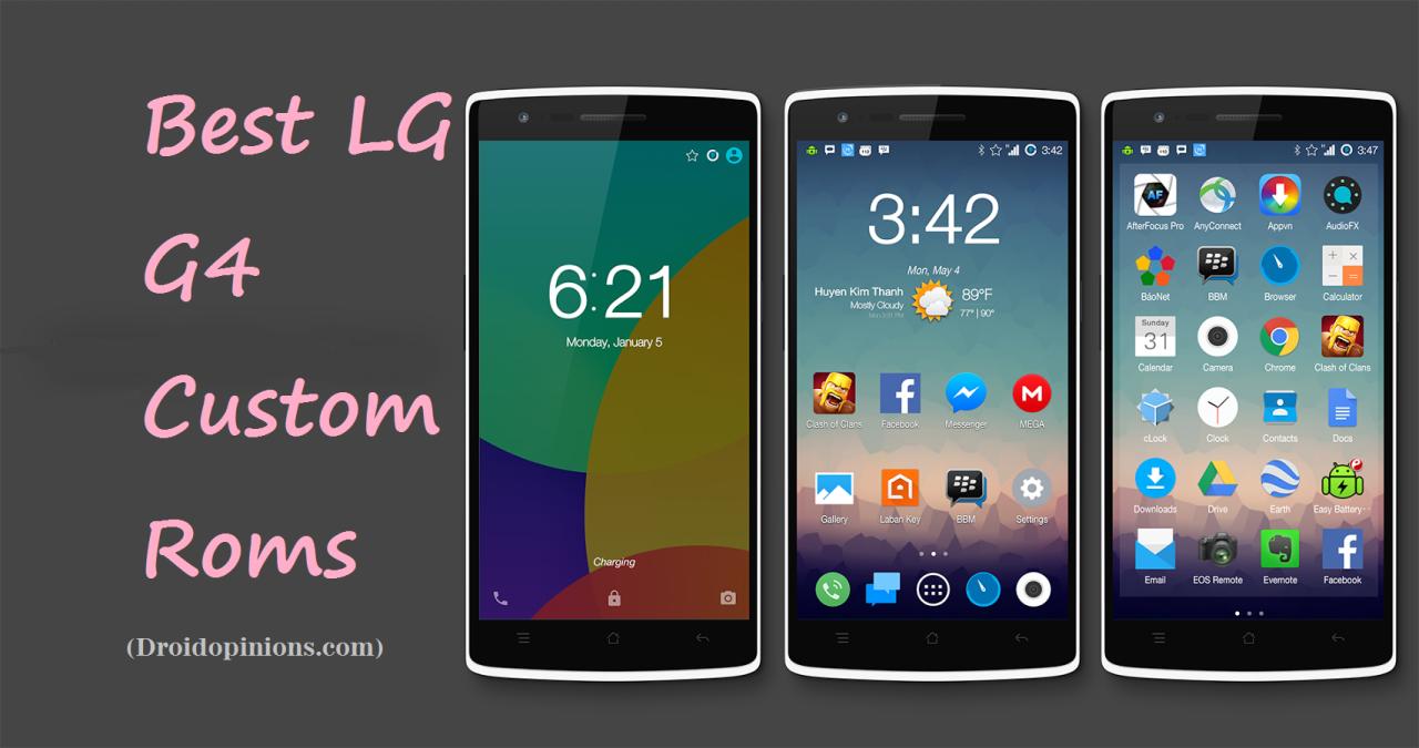 5 Best Fastest LG G4 Custom Roms