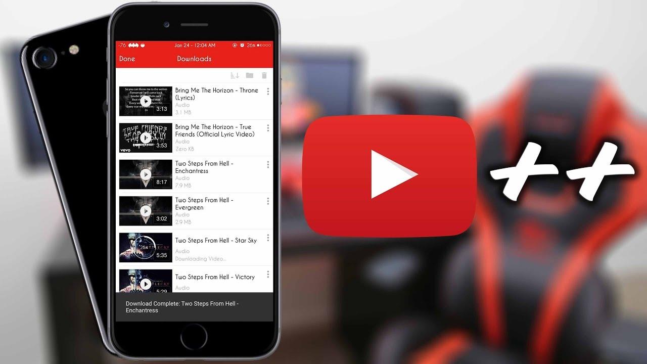 youtube++ ios 11 ipa