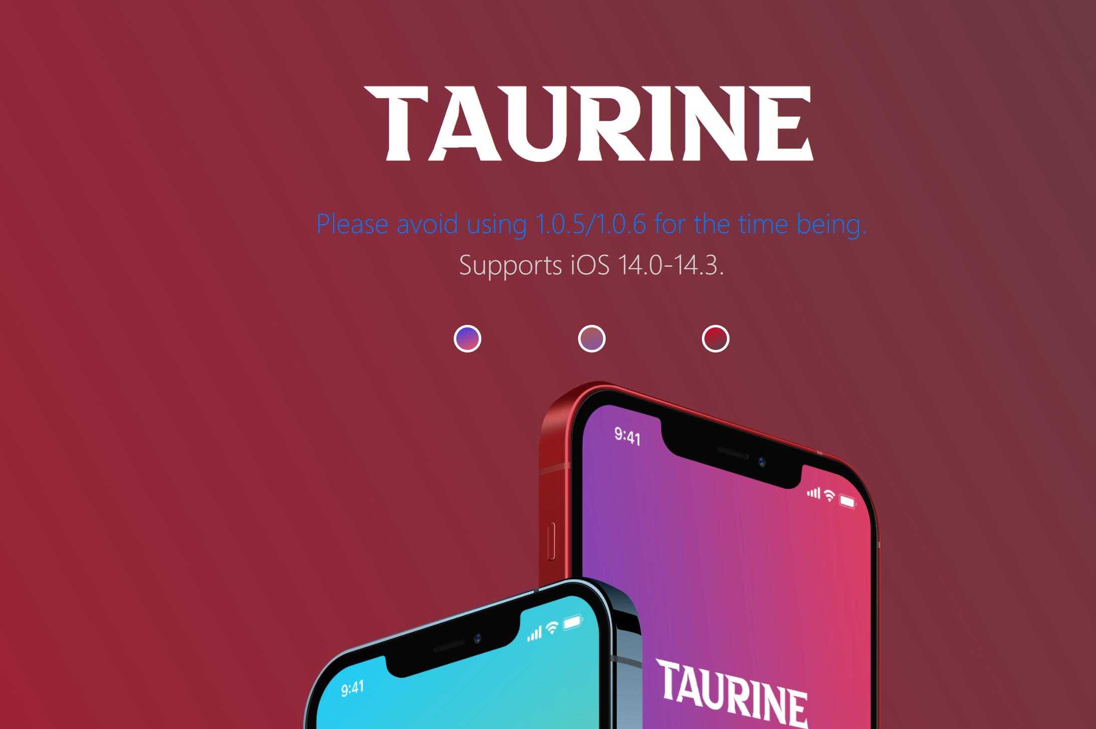 Taurine Jailbreak ipa ios