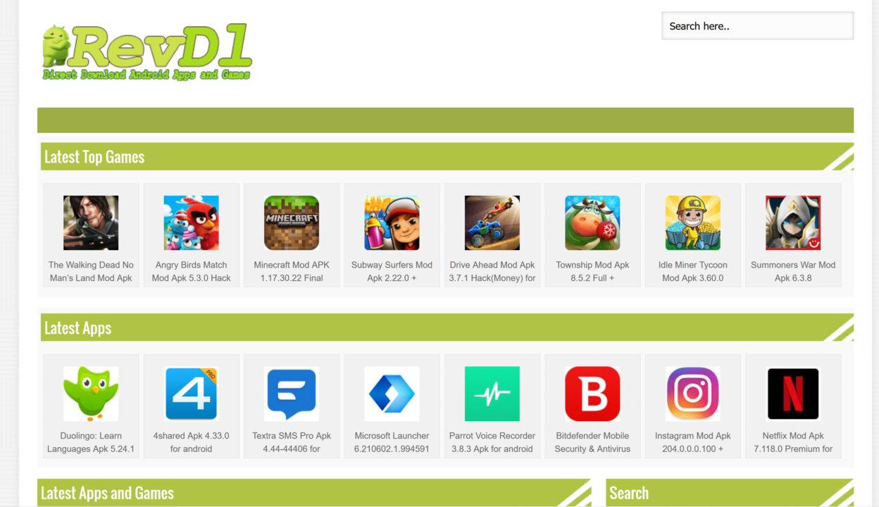 RevDL Modded Apk Apps